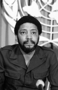 11 Oct 1979 --- Grenada's Prime Minister Maurice Bishop at press conference. --- Image by © Bettmann/CORBIS
